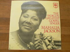 LP RECORD VINYL MAHALIA JACKSON THE WORLD'S GREATEST GOSPEL SINGER CBS P62197
