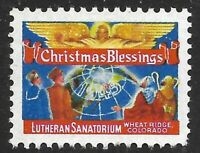 1945 Lutheran Sanatorium Christmas Blessings for Wheat Ridge CO with Angel