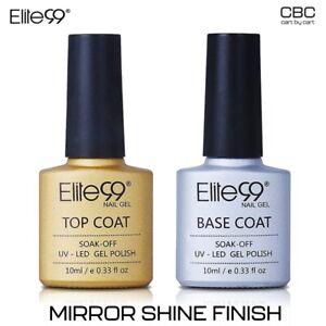 Elite99 Top Coat Base Coat Soak Off UV Gel Nail Polish Paint NO WIPE OFF MIRROR