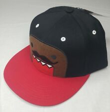 NWT Embroidered Domo Kun Japanese Animation Mustache Applique Snapback Hat  Cap 26541f2521ef