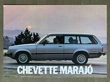 1981 Chevrolet Chevette Marajó original Brazilian sales brochure