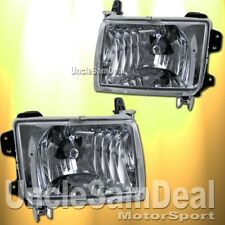 FOR NISSAN FRONTIER XTERRA CLEAR CHROME OE STYLE HEADLIGHTS PAIR W/ LIGHT BULBS