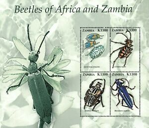 Zambia 2005 - Beetles of Africa and Zambia - Sheet of 4- Scott 1049 - MNH