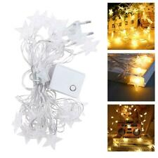 20 LED Star Garland String Light Fairy Lights for Wedding Party Decor Warm White