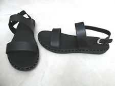 NEW FITFLOP BARRA BACKSTRAP SANDALS WOMENS SIZE 8.5 BLACK LEATHER W/ STUDS $120.