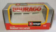 BOITE VIDE pour modèle 1/43 BURAGO PEUGEOT 205 SAFARI VATANEN GIROUX REF 4116
