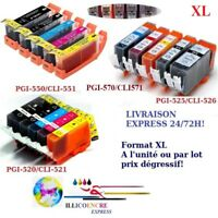 Cartouches compatibles Canon Pixma PGI CLI IP4800 IP4850 IP4950 IX6250 IX6550..