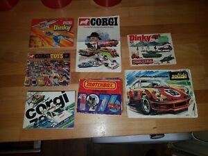 Job Lot Diecast Car Catalogues Brochures MATCHBOX CORGI DINKY FRENCH SOLIDO