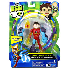 "Ben-Heatblast-Shockrock Omni Glitch Heroes Ben 10 Action Figure 5.5"""
