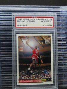 1993-94 Upper Deck European Michael Jordan #118 PSA 10 Bulls (44) O1