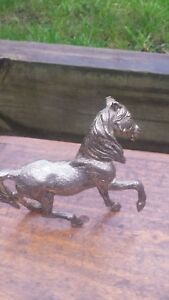 French Vintage Mid Century Pewter Horse