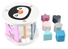 Sortierspiel Holz Pinguin Steckbox Sortierrolle Steckspiel Baby Kleinkind ab 1 J