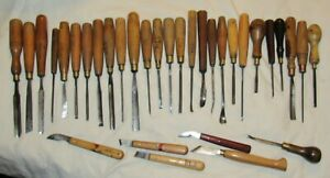 Lot Woodcarving chisels carving chisels gouges tools tool woodworking tools