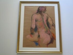 EMIL KOSA JR DRAWING MODERNIST 1940  EXPRESSIONIST MODEL IMPRESSIONIST MASTERFUL