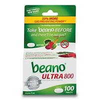 beano Ultra 800 Gas Prevention, Food Enzyme Dietary Supplement, Help Digest