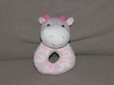 CARTERS JUST ONE YOU PINK WHITE GIRAFFE STUFFED PLUSH RING RATTLE TOY # J41591
