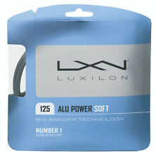 LUXILON ALU POWER SOFT 16L (1.25 mm) tennis racquet racket string set - Silver