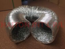 """5""""(125mm) *5M Aluminum Foil Duct New /Telescopic Tube Exhaust Pipe Double-Sided"""
