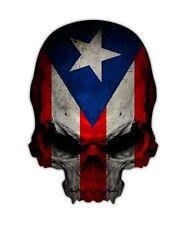 2 Puerto Rico Skull Decal - Puerto Rican Boricua Sticker Island Territory Decals
