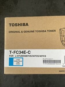 Toshiba Original Toner T-FC34E-C für E-Studio287CS/ 347CS/ 407CS Cyan Kobaltblau