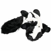 Plush Super Soft Unstuffed Skunk Dog Toy With Squeak 8x10x58cm