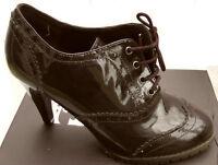 Marron Chocolate Brown Brouge High Heel Women Ladies Shoes