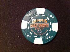 "Harley Ball Marker Poker Chip (Green & White) ""Bumpus Shop"" Collierville,TN."