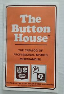 1972 NFL The Button House merchandise catalog