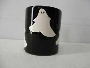 WAECHTERSBACH   MUG  WEST GERMANY   WHITE GHOST ON BLACK COFFEE CUP