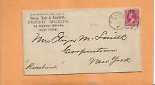 CAREY,YALE & LAMBERT FREIGHT BROKERS 1893 NY  VINTAGE ADVERTISING COVER ==