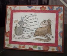 "House Mouse ""Feel Better Soon"" Get Well Handmade Card"