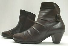 GABOR HOVERCRAFT ladies womens brown leather ankle boots Size 4.5 EU 37.5