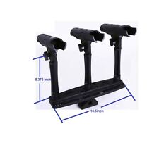 Triple Rod Holder with Extender NEW IN RETAIL BOX FREE SHIPPING