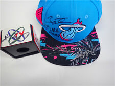 An autographed NBA championship hat by James Wade bosh of the Miami Heat