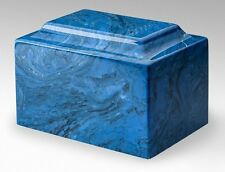 Classic Cultured Marble Blue 1 Cubic Inch Funeral Cremation Urn For Ashes