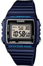 Casio W215H-2A Men's Classic Retro Blue Resin Band Alarm Chrono Digital Watch