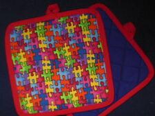 1 NEW  Handcrafted Potholder - Jigsaw Puzzle design - AUTISM puzzle design