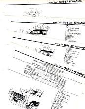 1967 1968 PLYMOUTH FURY VIP 67 68 MOTOR'S ORIGINAL CRASH BOOK ILLUSTRATIONS M 3