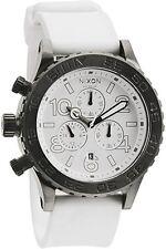 New in Box Nixon 42-20 Pu Chrono Watch Gunmetal White A038-486 A038486