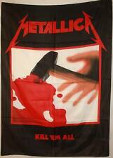 Metallica Kill 'Em All Hetfield Cloth Fabric Textile Poster Flag Wall Banner-New