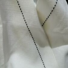 White Contrast Stitch Vest Coat