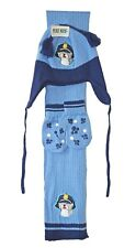 Baby Boys Girls Puppy Dog Hat Scarf & Paw Print Mittens Set Age 12-18-24 Months Blue
