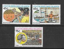 Cocos Keeling Islands 1987 Cocos-malay Industries Sg169-171  MNH/UMM