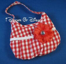 Build-A-Bear RED & WHITE GINGHAM PURSE Teddy Size Hand Bag DIAMOND SILK FLOWER