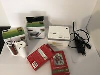 VuPoint Photo Cube Compact Photo Printer Bundle Color Cartridges, Paper & More