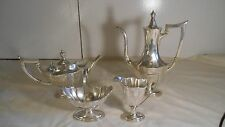 Gorham Sterling Silver 4 Piece Coffee & Tea Set Plymouth Pattern Rare Collection