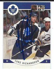 Luke Richardson Signed 1990/91 Pro Set Card #289