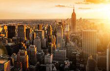 Fototapete Morgendämmerung über Manhattan Nr. 444 Größe: 400x280cm Skyline USA