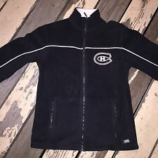 NHL Montreal CANADIANS Hockey • Men's Black Full Zip Up Jacket size SMALL