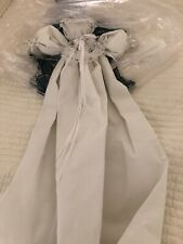 Vintage Amish Made Poster Bed Doll Church Pew Babies Linens Pillow cases Hanki
